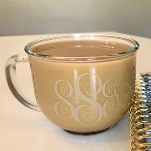Customizable Glass Etched Coffee Mug